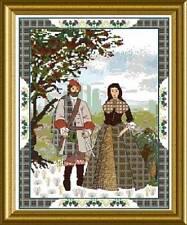 Chatelaine Scottish Lovers Tapestry B Cross Stitch Chart #172-Martina Rosenberg