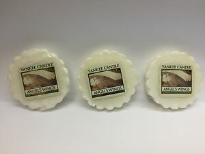 Yankee Candle ANGEL'S WINGS  LOT OF 3 TARTS WAX MELTS - PLS READ Listing