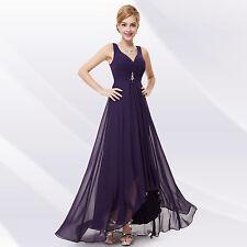 Ever-Pretty Long Chiffon V Neck Evening Formal Party Bridesmaid Dress 09983 Dark Purple 16