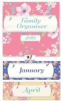 2019 VINTAGE DESIGN FAMILY ORGANISER SQUARE MONTH TO VIEW PHOTO CALENDAR PINK