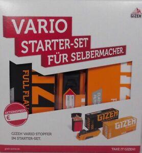 Starterset Gizeh Stopfer, 2x 200 Hülsen, Flipp Case, Vario Stopfer