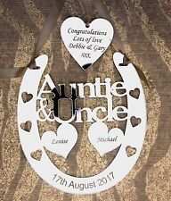 Personalised Auntie & Uncle Wedding Horseshoe Bridal Gift with TAG and  GIFT BAG