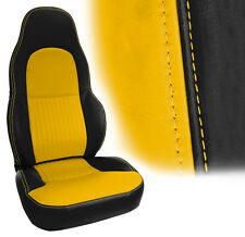 1997-2004 Corvette C5 BLACK & MILLENNIUM YELLOW AltraVinyl Standard Seat Covers