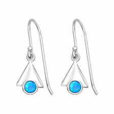 Hook Lab-Created/Cultured Sterling Silver Fine Earrings