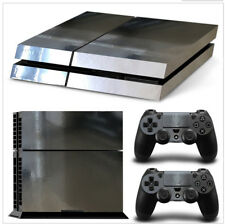 Sony PS4 Console and Controller Skins -- Silver Chrome Glossy Film (SCG)