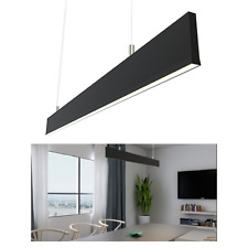 30W SLIMLINE LINEAR PENDANT1200(L)x15(W)x 75mm(H) 3K-Black Hand-Moving Sensor