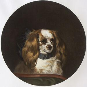 CAVALIER KING CHARLES ENGLISH TOY SPANIEL DOG ART ENGRAVING - Sir Edwin Landseer