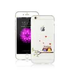 LIEBE EULE Silikon Hülle - Apple iPhone 7 PLUS Backcover Diamant Eulen  - 21