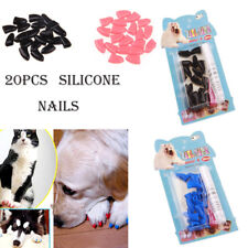 20pcs Soft Silicone Dog Cat Paw Claw Pet Nail Protector Control Nail Caps Cover