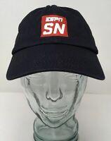 ESPN SN Sports Nation Baseball Cap Hat Cotton Blue OSFM Strap Back