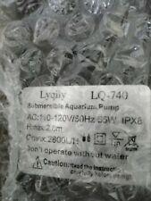 Lyqily 740 GPH 2800L/H Submersible Water Pump For Aquarium, Pond, Fish Tank Pump