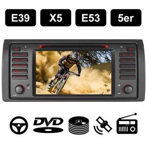 DAB+ Autoradio Für BMW E39 E53 X5 5er DVD GPS Navi Navigation DAB+ RDS VMCD BT