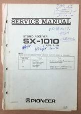 Pioneer SX-1010 Receiver Service Manual *Original*