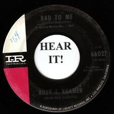 Billy J Kramer BRIT 45-Imperial 66027-Bad To Me/Little Children-Beatles cvr VG+