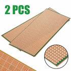2Pcs Stripboard Veroboard Uncut PCB Platine Single Side Circuit Perf Board US