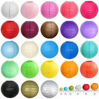 Dia.10/20/25/30/35/40CM Round Paper Lantern Lanterns Lamp Wedding Party Decor