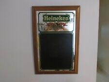 Heineken Beer Sign Mirror Chalkboard Vintage Rare