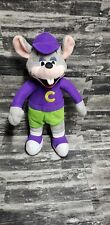 """New listing Chuck-E-Cheese Mouse Plush 13"""" Purple Green Toy Animal Pizza 2012 Chucky Soft"""