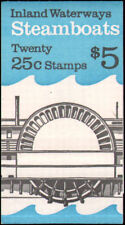 Scott # 2409a Bk # 166 -1989 - Steamboats - 1 Unopened Booklet 20 Stamps - Mnh