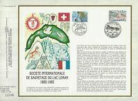 Foglio CEF 1er Giorno Francia Società Internazionale Salvataggio Lac Leman 1985