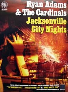 RYAN ADAMS 2005 jacksonville nights promo poster MINT condition NEW old stock