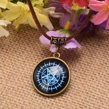 Anime Black Butler Unisex ChokerBlue Star Necklace Leather Chain Cosplay Props