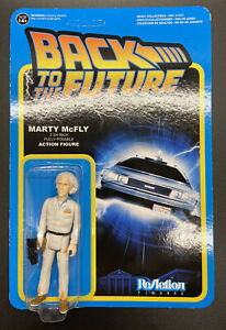 FUNKO ReACTION BACK TO THE FUTURE DOC BROWN FIGURE ERROR CARD MARTY MCFLY 2014