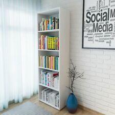 vidaXL Boekenplank 60x31x190 cm Spaanplaat Wit Boeken Plank Boekenplankje