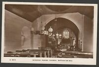 Postcard Sutton on Sea  Mablethorpe Lincolnshire church interior RP WHS Kingsway