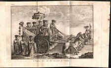 Chine. L'Empereur dans son char aux jours de cérémonies. Gravure sur acier. 1785