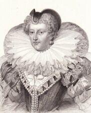 Portrait XIXe Marie de Médicis Caterina Maria Romola di Lorenzo de Medici
