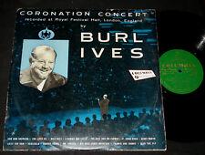 BURL IVES AUSSIE 1950s LP ON COLUMBIA - CORONATION CONCERT