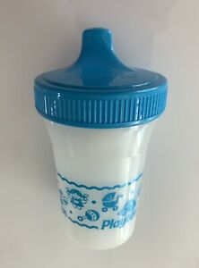 Vintage Playtex Spill Proof Sippy Cup Blue Lid & Baby Toy Design 1995