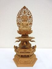 Japanese Japan, Buddhist statue  wooden hand-carved 27.5cm