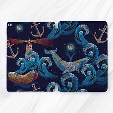 Ocean Blue Whale Animal Wave Case For iPad Pro 9.7 10.5 11 12.9 Air Mini 2 3 5