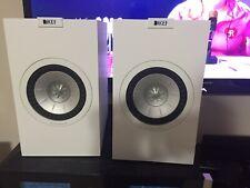 Great Condition Pair KEF Q150 White Bookshelf Speaker Uni-Q Driver Array