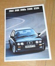 BMW 3 Series E30 Brochure 1990-1991 - 316i 318i 318is 320i 325i Sport SE