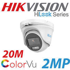 2MP 1080P HIKVISION COLORVU HILOOK CCTV TURRET DOME CAMERA THC-T129-M 2.8MM WIDE