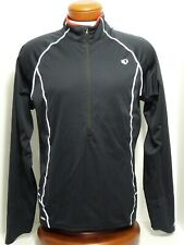 PEARL IZUMI Black Fly Evo Pullover 1/2 Zip Front Reflective Lines Men's Large