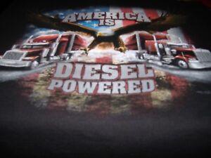 SALE - Men's Sz XL AMERICA IS DIESEL POWERED Truck Wear Short Sleeve Big Rig Tee
