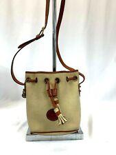 Dooney & Bourke Leather Drawstring Basket Bag Purse Shoulder bag Vintage
