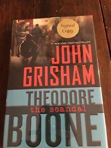 SIGNED Theodore Boone: the Scandal John Grisham (2016, HCDJ) 1st/1st $54.95 NEW