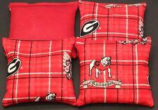 Georgia Bulldogs Cornhole Bean Bags Baggo Toss Tailgate Set of 4 Aca Reg. Bags