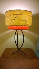 Mid Century Vintage Style 2 Tier Fiberglass Lamp Shade Starburst Retro IR2I