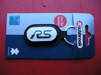 Richbrook Ford Collection New RS keyring Black leather ,Blue RS logo on white