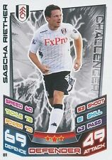 N°081 SASCHA RIETHER # DEUTSCHLAND FULHAM.FC TRADING CARD MATCH ATTAX TOPPS 2013