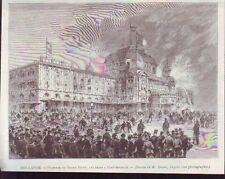 1886  --  HOLLANDE  INCENDIE GRAND HOTEL DES BAINS  SCHEVENINGUE  S370
