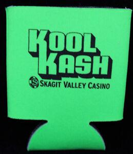 Kool Kash Skagit Valley Casino Bright Green Beer Bottle Koozie
