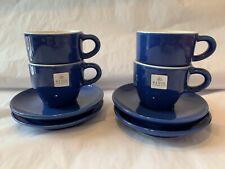 Revol Espresso Cup With Saucer Blue Set Of 4