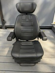 Quality Marine Suspension Seat Helm Chair - Captains Pilot Boat Fishing Trawler